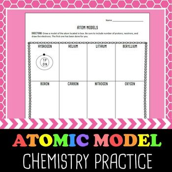 Atomic Model Practice Periodic table, Students and Science fun - new periodic table assignment