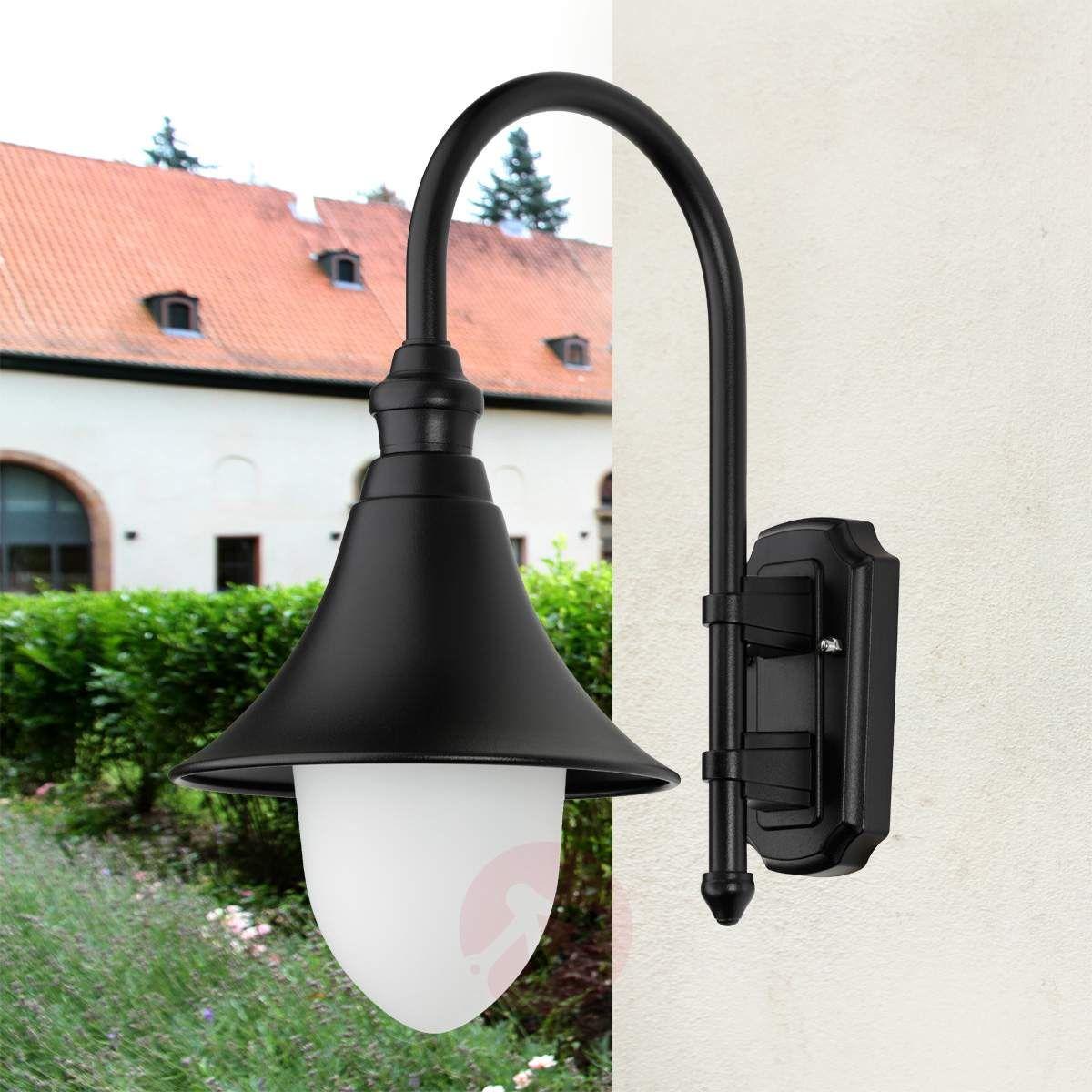 Stylowa Zewnętrzna Lampa ścienna Miranda Czarna Lampy