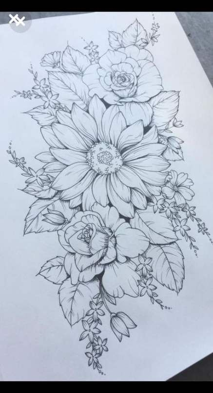 Tattoo forearm flower thigh piece 68 Best Ideas