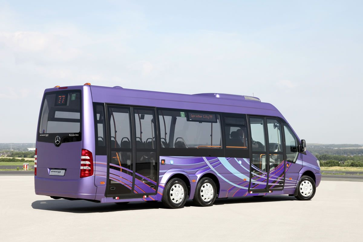 Mercedes benz sprinter city 77 makes world debut at the for Mercedes benz party bus