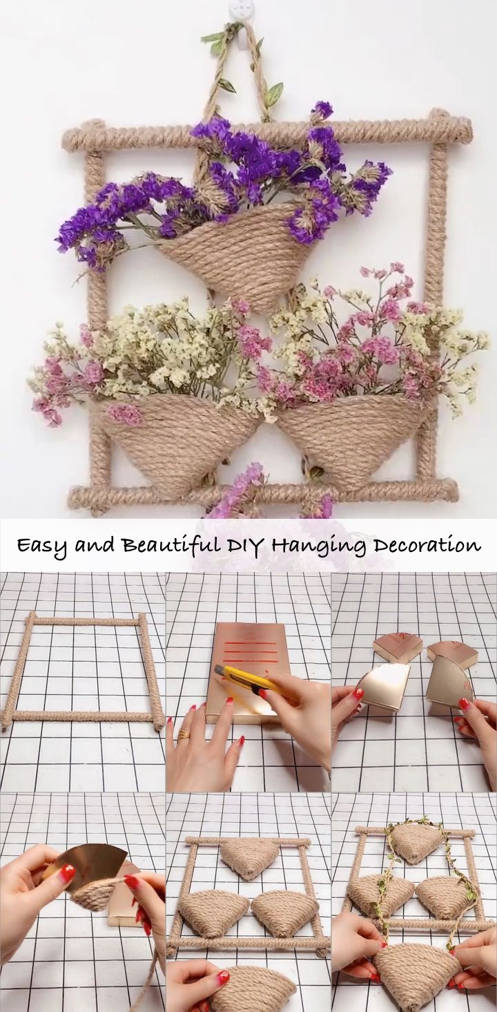 Easy and Beautiful DIY Hanging Decoration