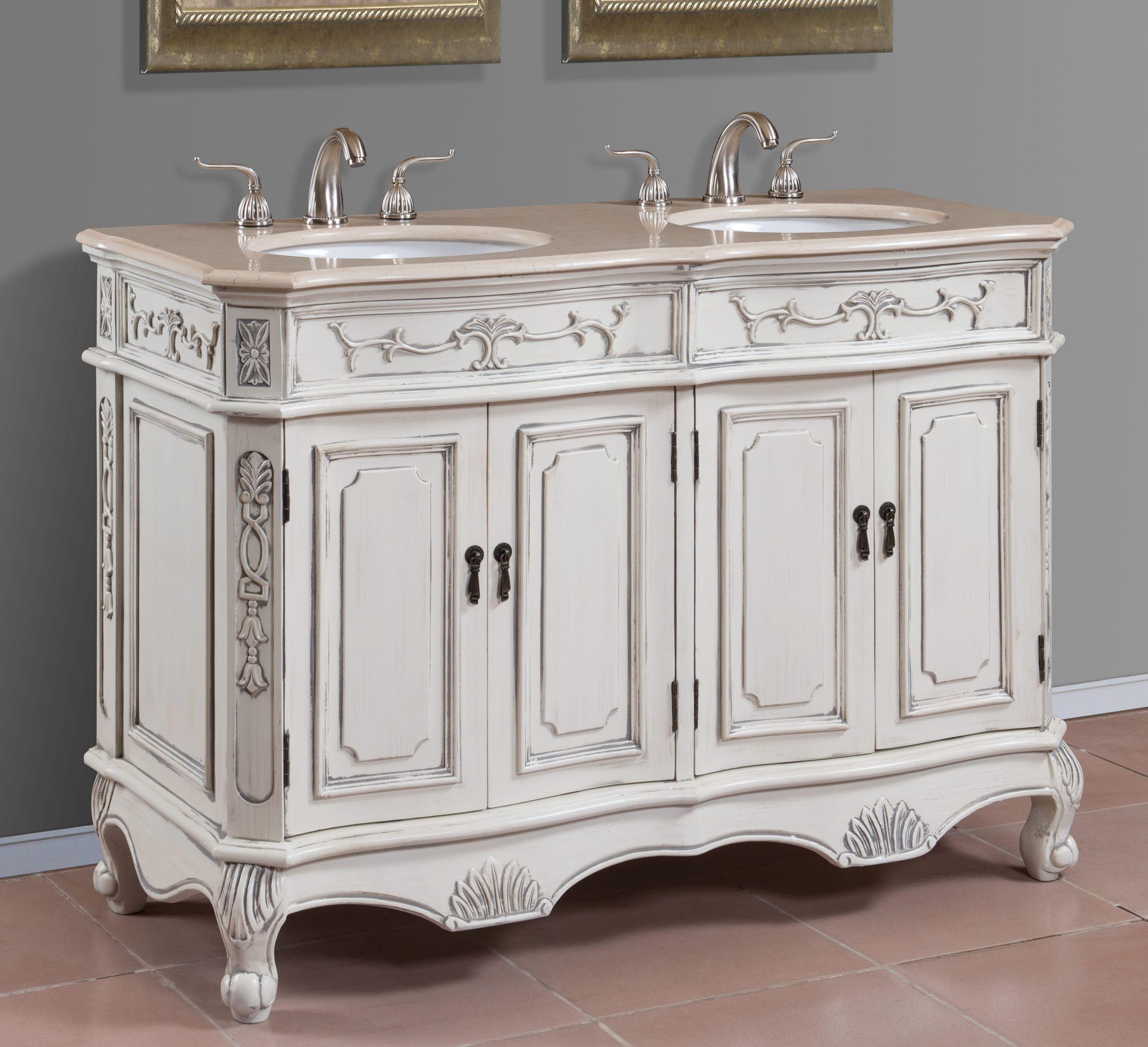 48 Inch Double Sink Bathroom Vanity Double Vanity Bathroom