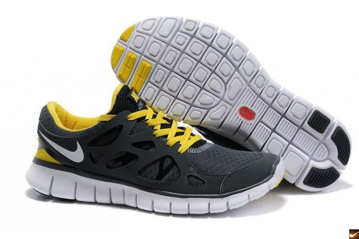 wholesale dealer 29e6d 8d285 ... discount nike free run 2 womens running shoes black yellow c8613 d7a86