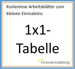 Kostenlose Übungen und Aufgaben zur 1x1-Tabelle und eine ausgefüllte ...