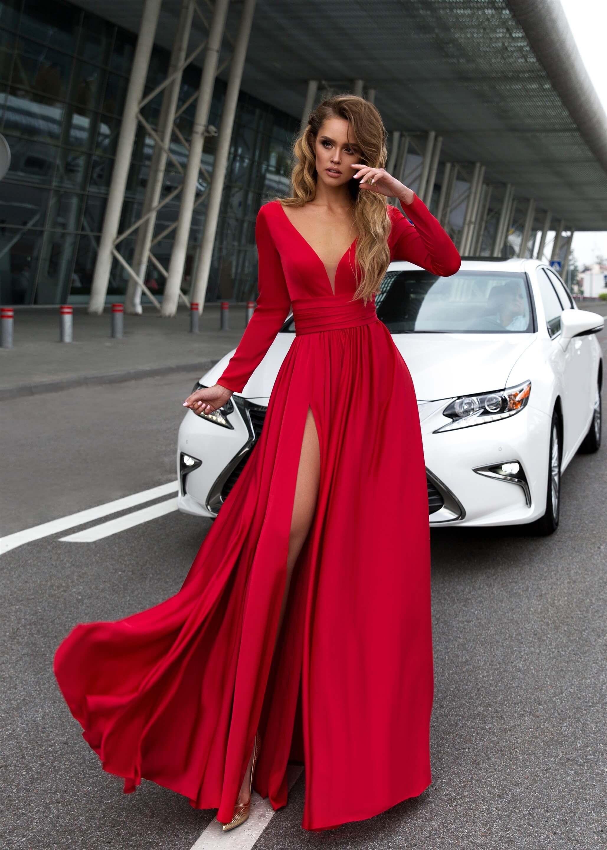 3e1faae4618ef5 Вечірня сукня Selin Red - коктейльні сукні та вечірні сукні Olya Mak, тел.  +38 (068) 4690706