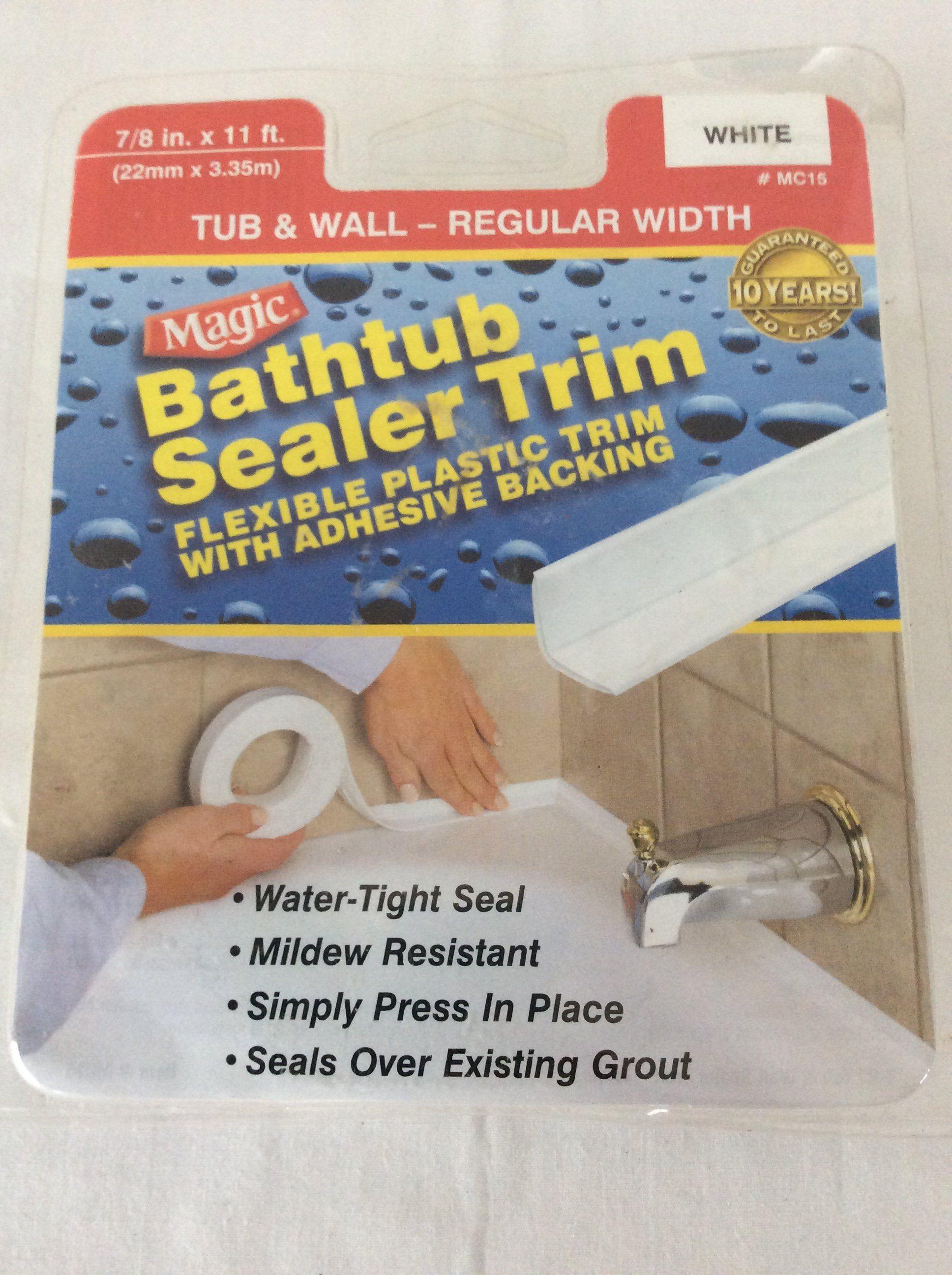 Magic Bathtub Sealer Trim Tub Amp Wall 7 8 Quot X 11 Ft