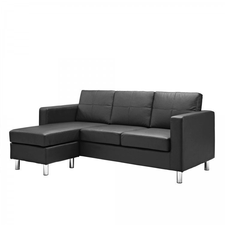 Swell Details About Faux Leather Black Sofa Sectional Bed Sleeper Cjindustries Chair Design For Home Cjindustriesco
