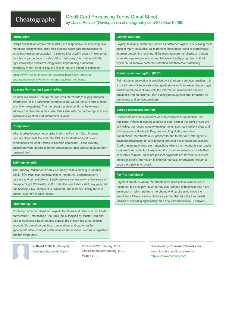 Credit card processing terms cheat sheet by davidpol httpwww credit card processing terms cheat sheet by davidpol httpcheatography magicingreecefo Gallery