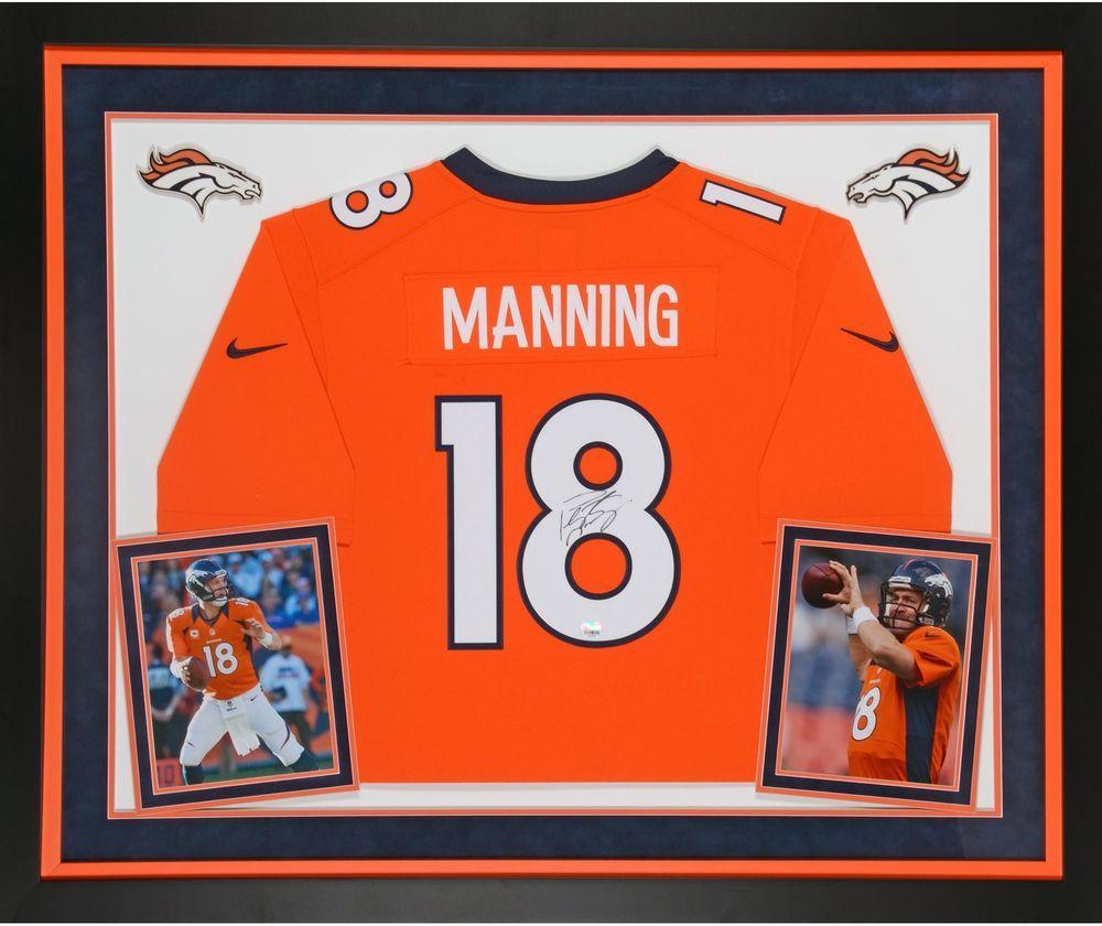cd1e87ec1 Peyton Manning Denver Broncos Signed Framed Limited Orange Jersey -  Fanatics  Football