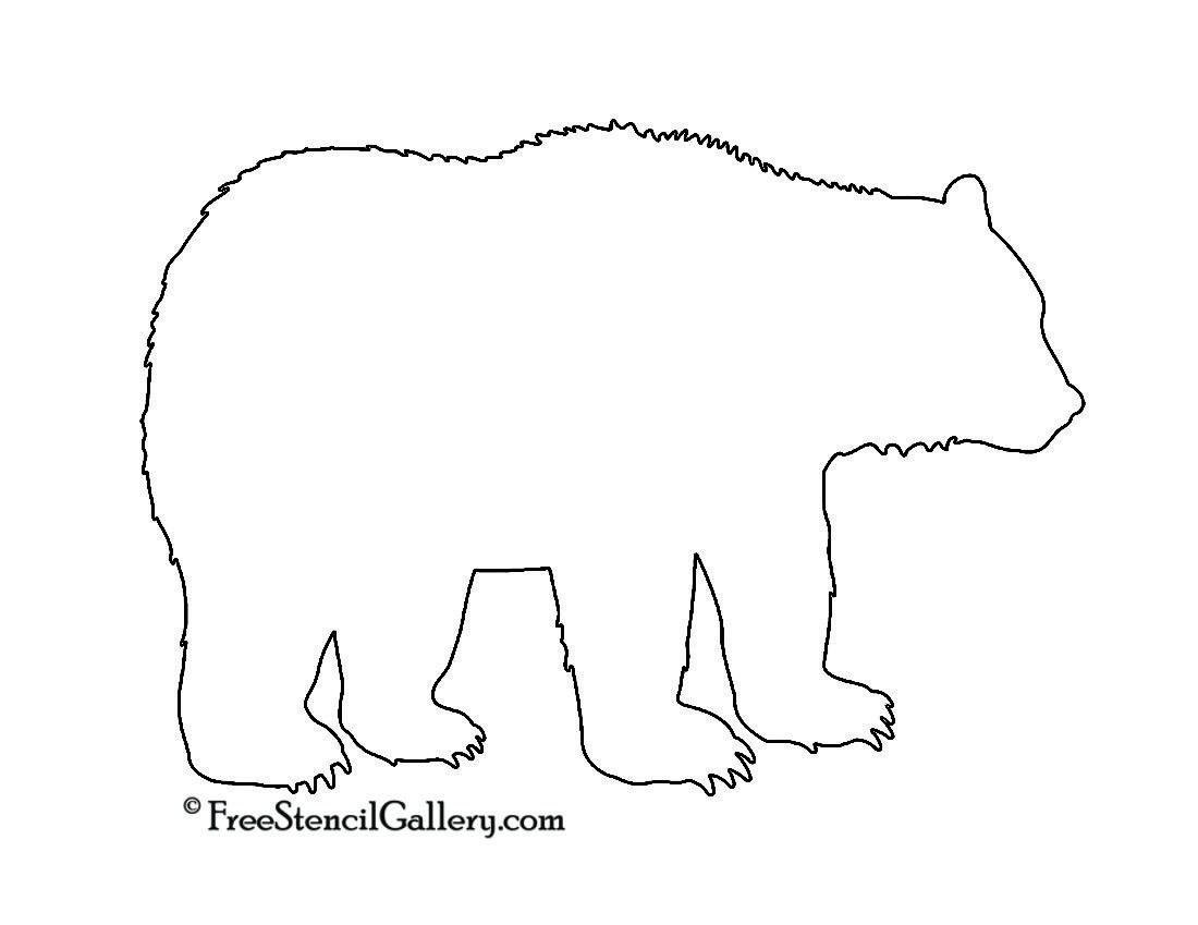 Bear Silhouette Stencil Bear Stencil Bear Silhouette Free Stencils