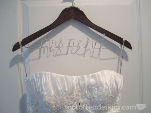 Diy personalized hangers tutorial hanger gown photos and wedding diy personalized hangers tutorial spot of tea designs solutioingenieria Images