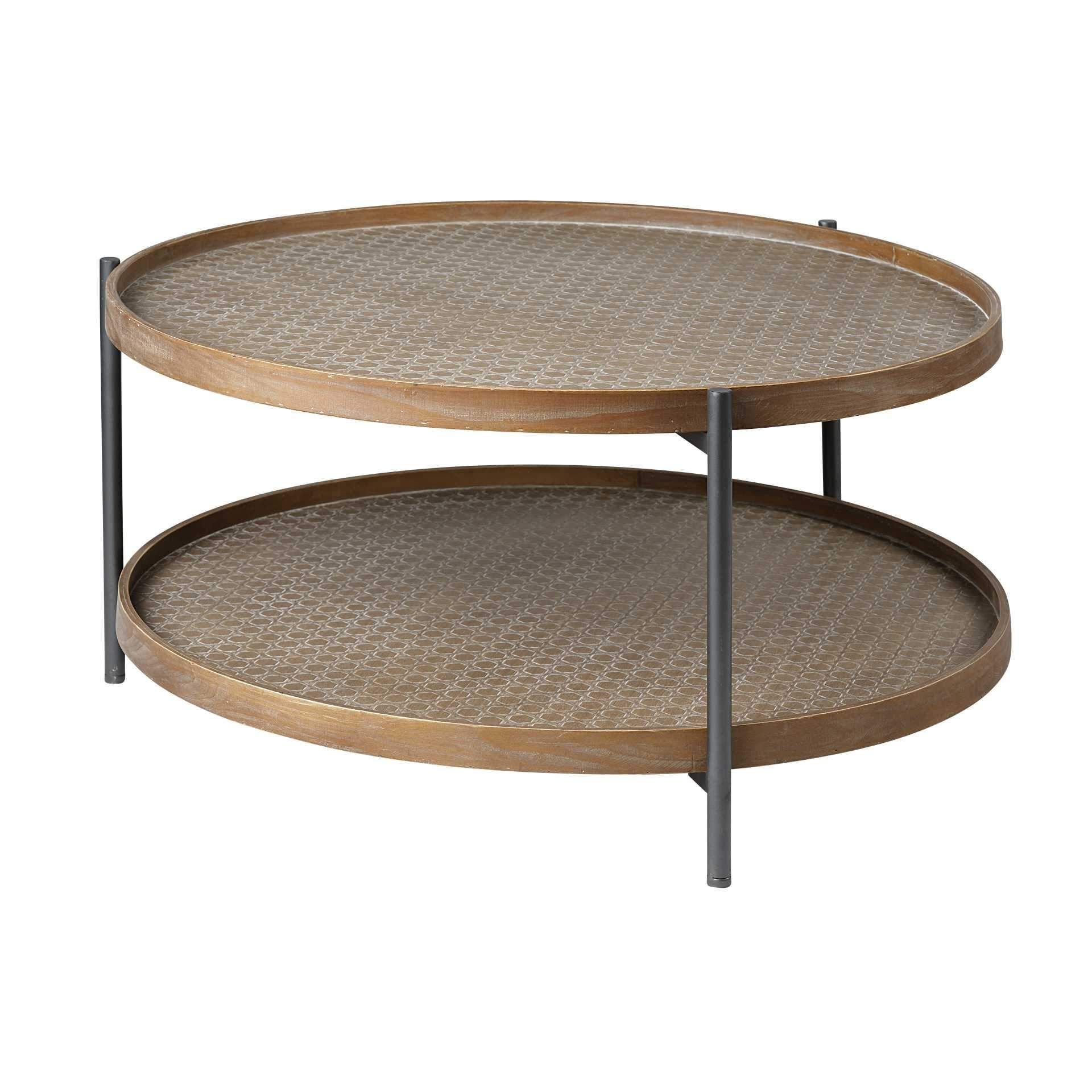 33 Round Black Wood And Metal Frame Two Tier Coffee Table Coffee Table Wood Hexagon Coffee Table Round Wood Coffee Table [ 1920 x 1920 Pixel ]