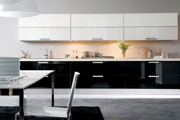 Modern Black White Kitchen  Kitchen Design  Pinterest  Kitchen Unique Black And White Kitchens Designs Decorating Inspiration