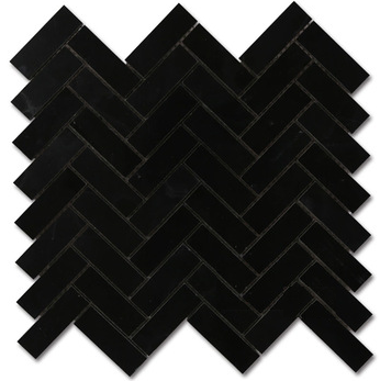 12 Sq Ft Matte Black Stone Look Herringbone Tile Mosaic Httpwww