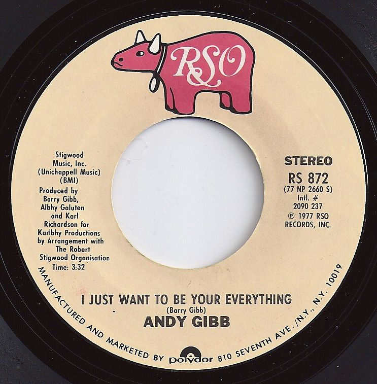 I Just Want To Be Your Everything Andy Gibb 1 On Billboard