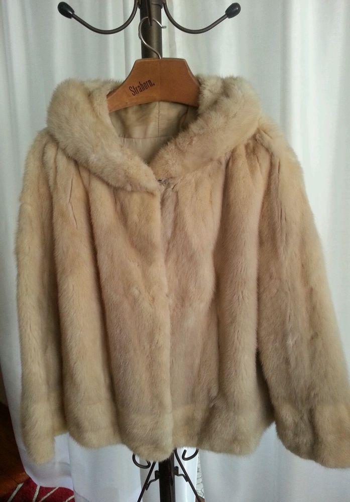 Vintage Light Beige Mink Fur Coat Custom Design Sz. Lg.-XL 12-16 Stunning Gift!  #CustomMade #BasicCoat