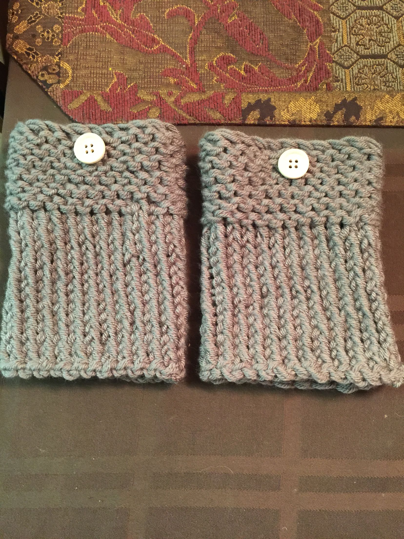 Loom Knitted Boot Cuffs My Crochet Projects Pinterest Loom