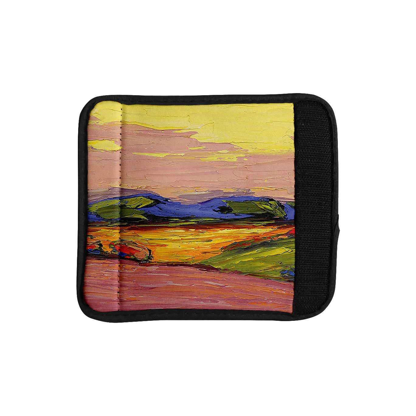 Kess InHouse Jeff Ferst 'Pastoral View' color Painting Luggage Handle Wrap