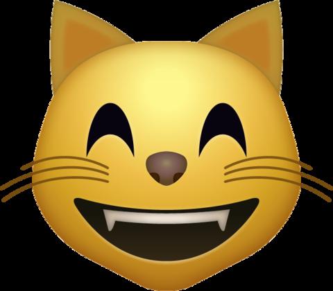 Happy cat emoji icon. Download emoji icon in high