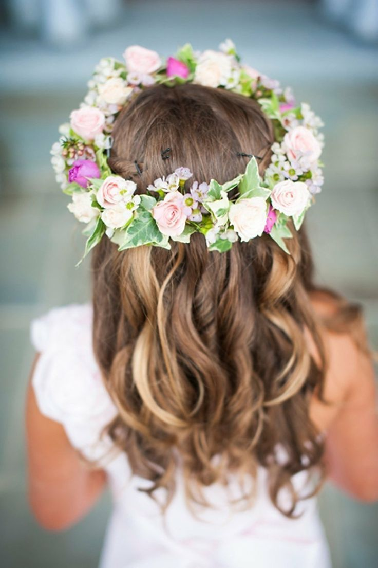 Big Flower Crowns For Flower Girls Gorgeous Flower Crown For