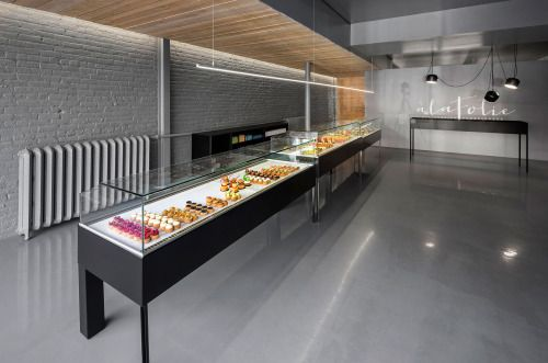 Pâtisserie À la Folie in Montreal, Canada, designed by Moderno