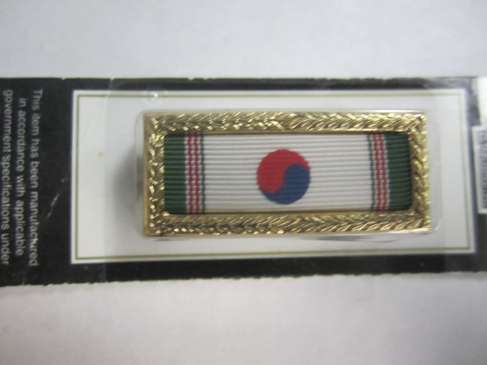 US Army Air Force Presidential Citation Korean War Medal Ribbon Pin Badge