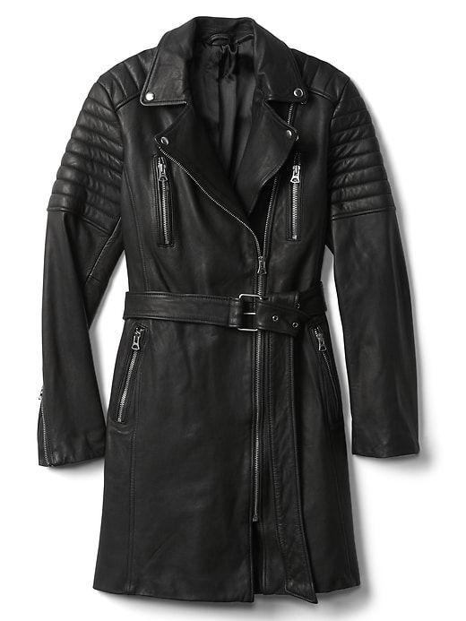 Gap leather jacket sale
