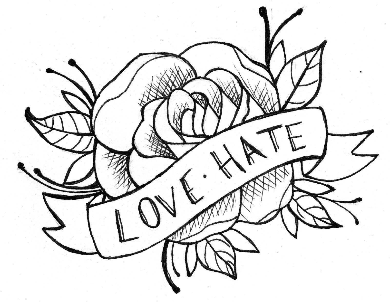 Simple Tribal Rose Tattoo Flower tattoo ideas jpg ...