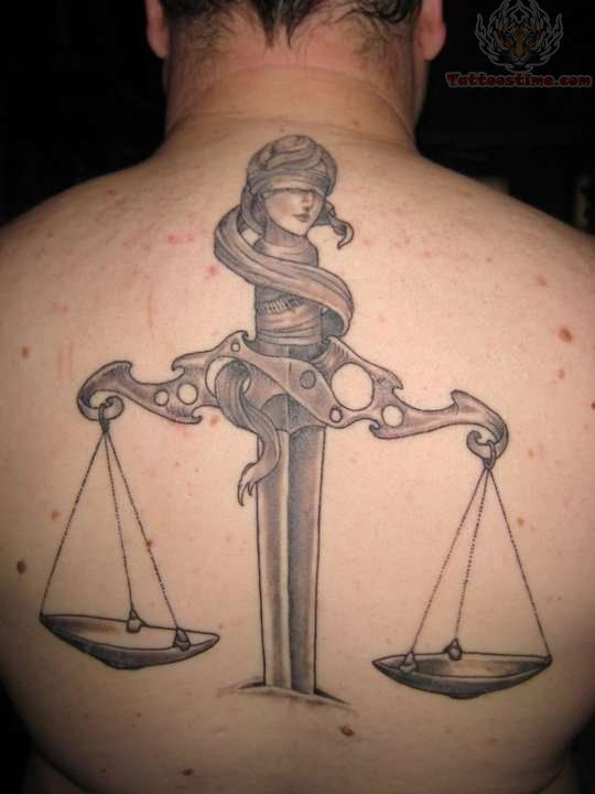 lady justice tattoos | Tattoos Of Scales | Justice tattoo, Scales ...