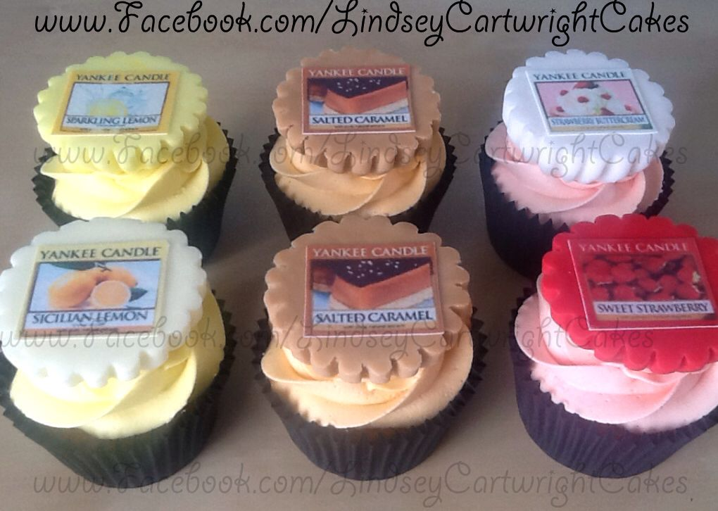 Edible Handmade Yankee Candle Icing Toppers Theme Cupcakes Cake Birthday