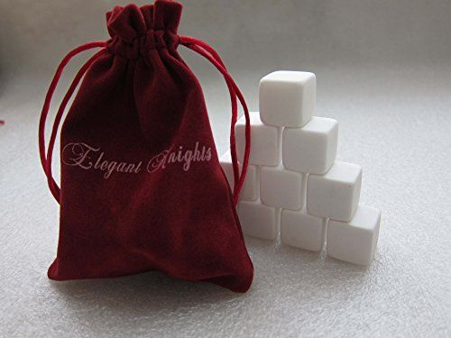 Elegant Knights Pearl White Whiskey Stones Set of 9 with Velvet Gift Pouch Reusable Chills Whiskey, Wine, Champagne, Beer, and Other Cocktails Elegant Knights http://www.amazon.com/dp/B00PQWWHXU/ref=cm_sw_r_pi_dp_lwkRub1QNVEKF