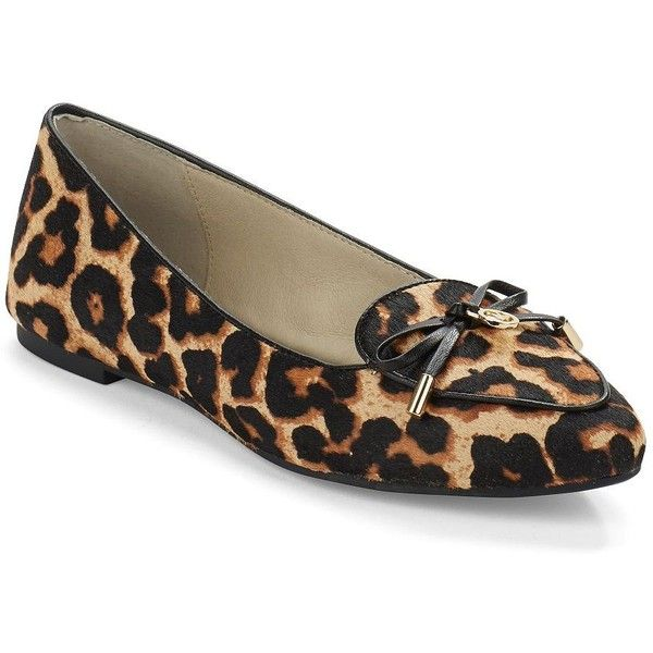 28143841ff5d Michael Michael Kors Nancy Leopard-Print Calf Hair Point Toe Flats ( 145) ❤  liked on Polyvore