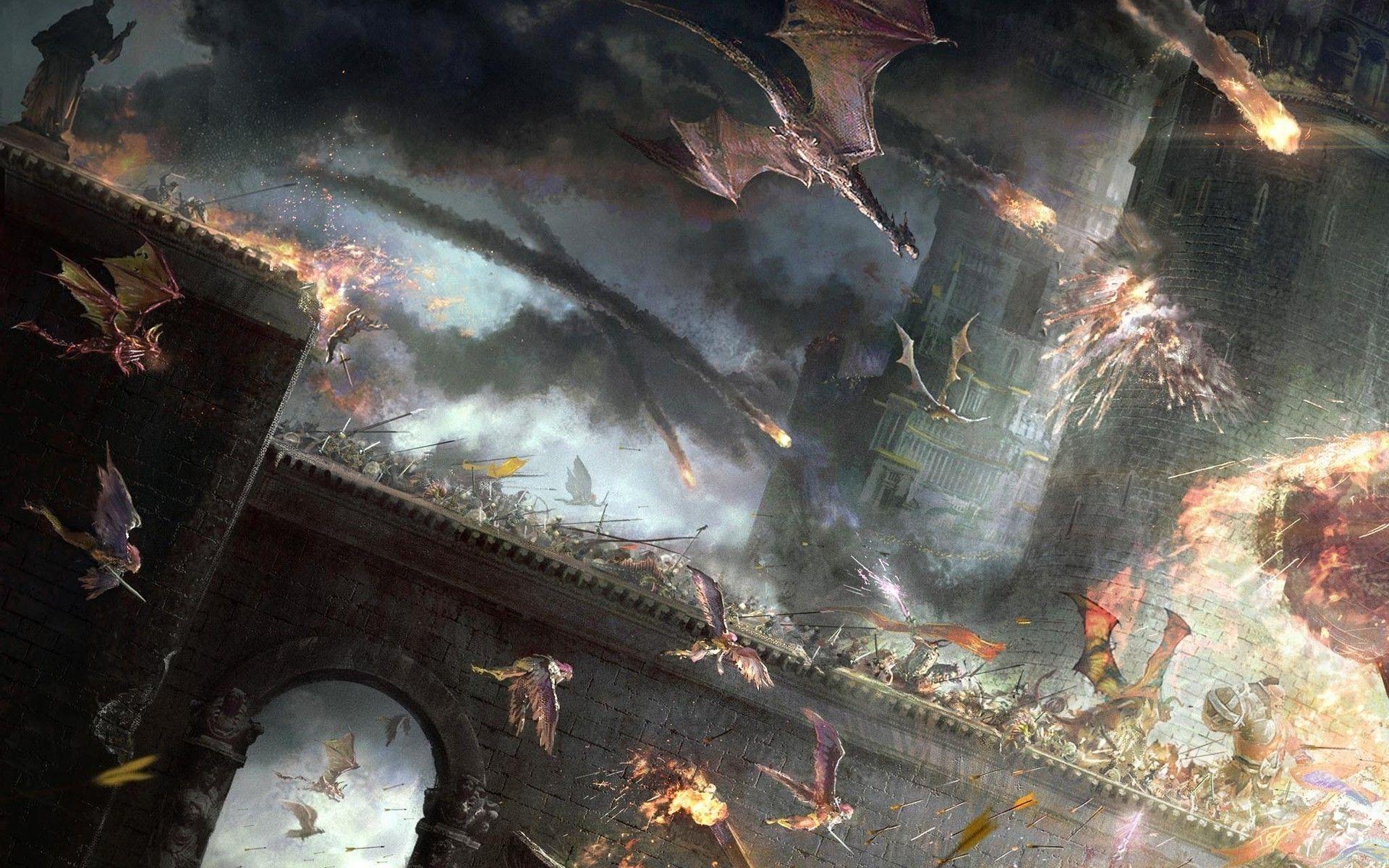 Get Wallpaper Fantasy Battle Art JPG