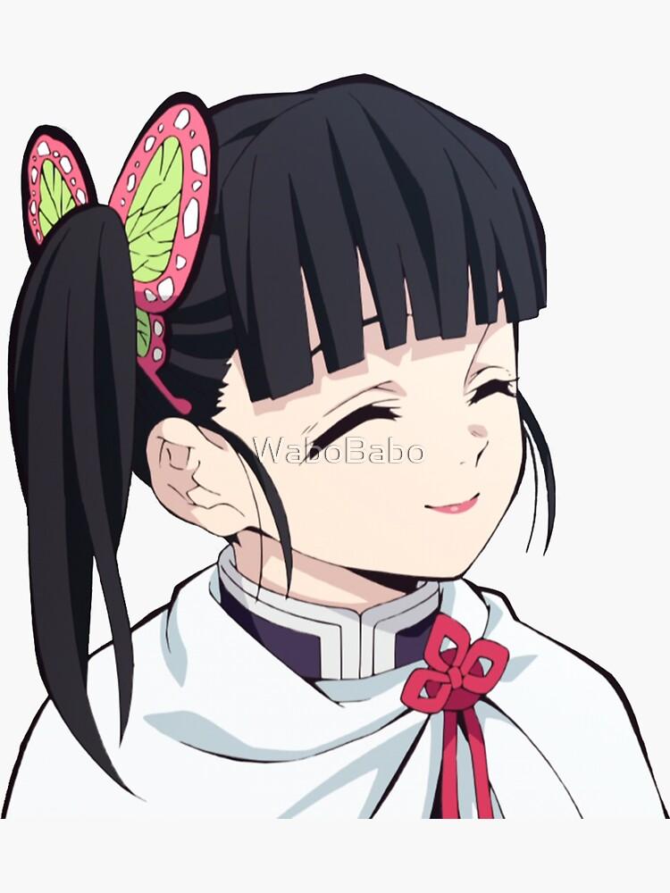 Demon Slayer Kimetsu No Yaiba Kanao Tsuyuri Smile Sticker By Wabobabo In 2021 Anime Demon Anime Slayer Anime