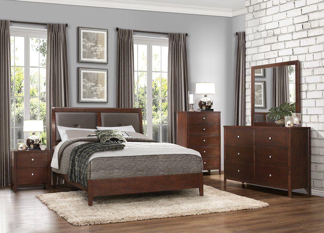 darby home co ketcham platform configurable bedroom set