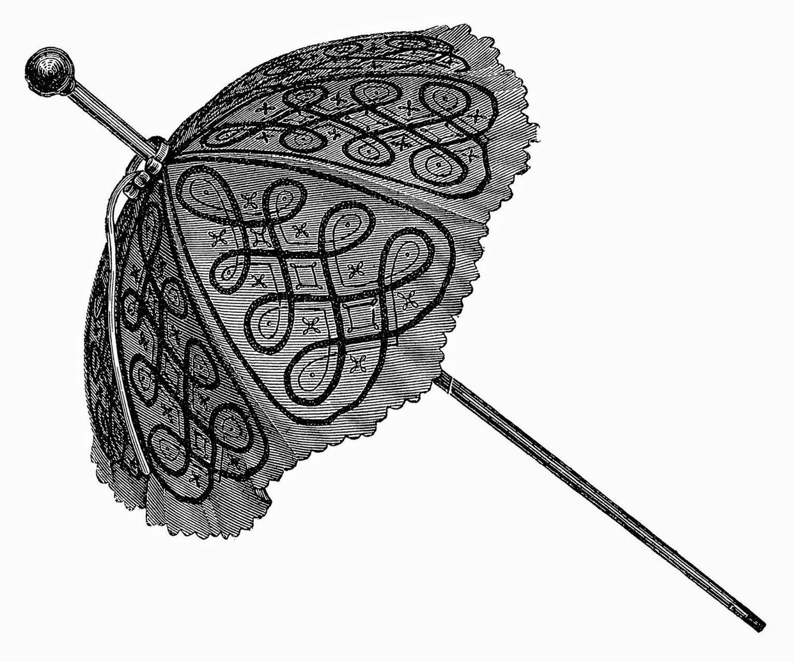 зонт винтажные картинки