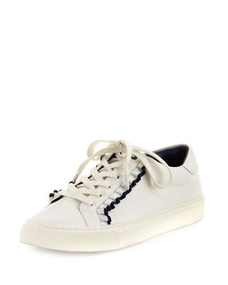 2b6cb4586586a1 Tory Sport Ruffle Leather Low-Top Sneakers