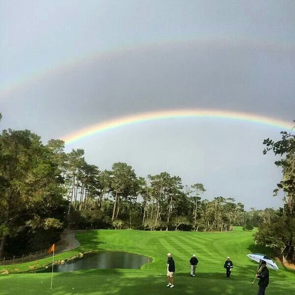 Double Rainbow at Spyglass Our Residential Golf Lessons are for beginners,Intermediate & advanced . Our PGA professionals teach all our courses in a incredibly easy way to learn and offers lasting results at Golf School GB www.residentialgolflessons.com
