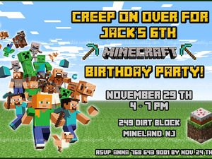 Pin by elzaan de wit on noah minecraft 6yr old party pinterest shop for minecraft birthday invitation on etsy the place to express your creativity through the buying and selling of handmade and vintage goods stopboris Choice Image