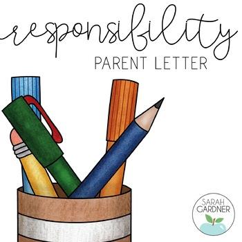 Responsibility Parent Letter | Letter to parents ...