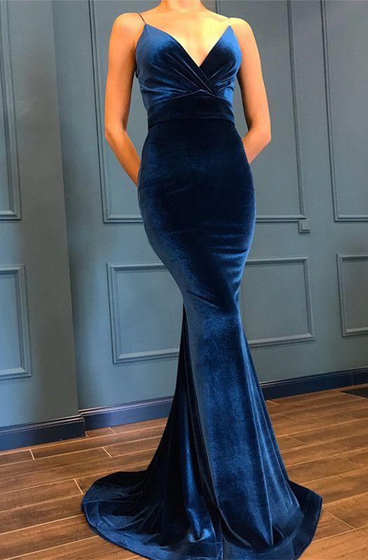 Velvet Mermaid Dresses V Neck Empire Waist | Military ball
