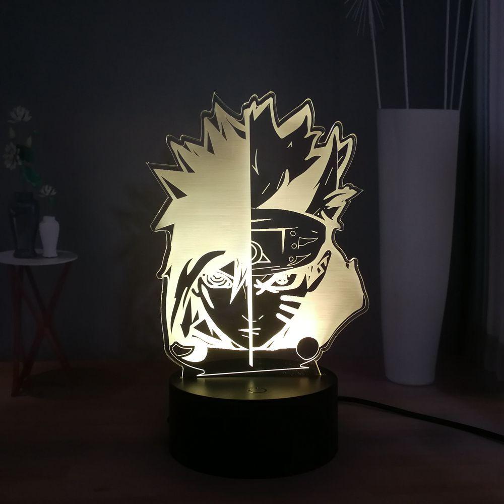 Naruto Uzumaki 3d Illusion Lamp Japanese Anime Usb Switch Multicolored Led Bedroom Sleep Night Light Desk Lighting Home 3d Illusion Lamp Decor Buy 3d Illusions
