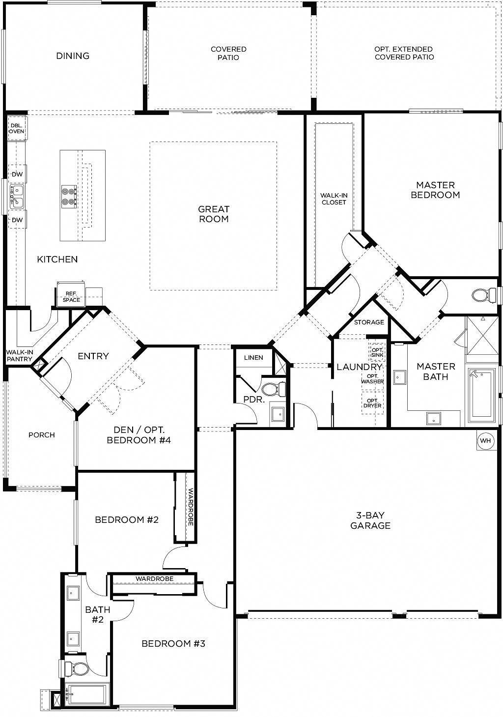 floor plan 1 put a fireplace in the great room