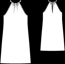 Schnittmuster abendkleid neckholder