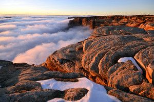 Fog blankets canyon below Cedar Mesa in southeastern Utah. - Photo Submitted by Stan Byrd