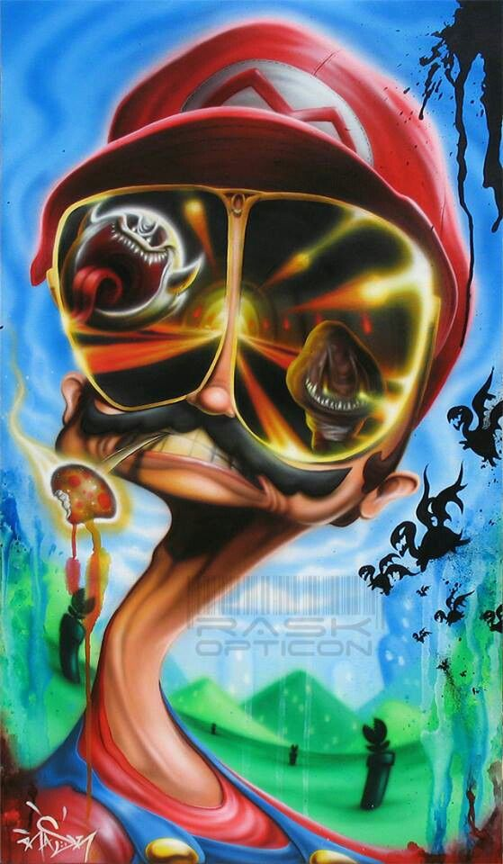 Fear And Loathing Meets Mario Mario Art Psychedelic Art