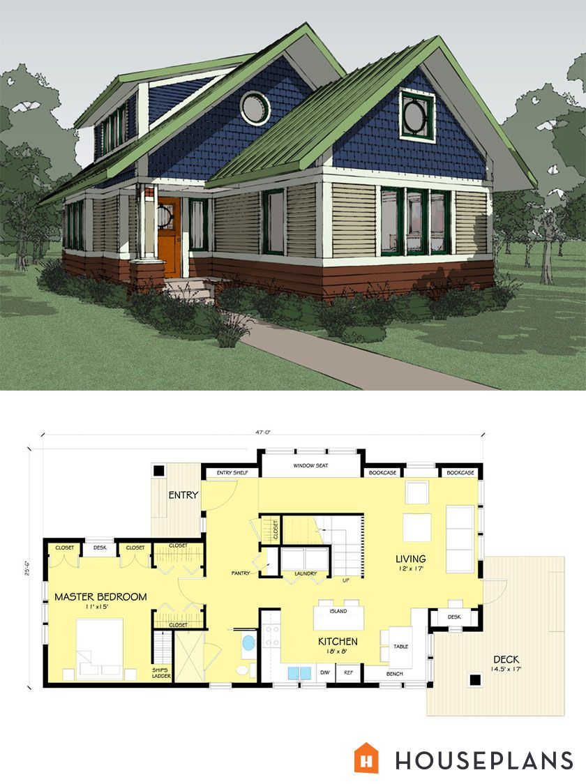 Craftsman Style House Plan 2 Beds 2 Baths 1600 Sq Ft Plan 454 13 Craftsman Style House Plans Small House Floor Plans Modern Style House Plans