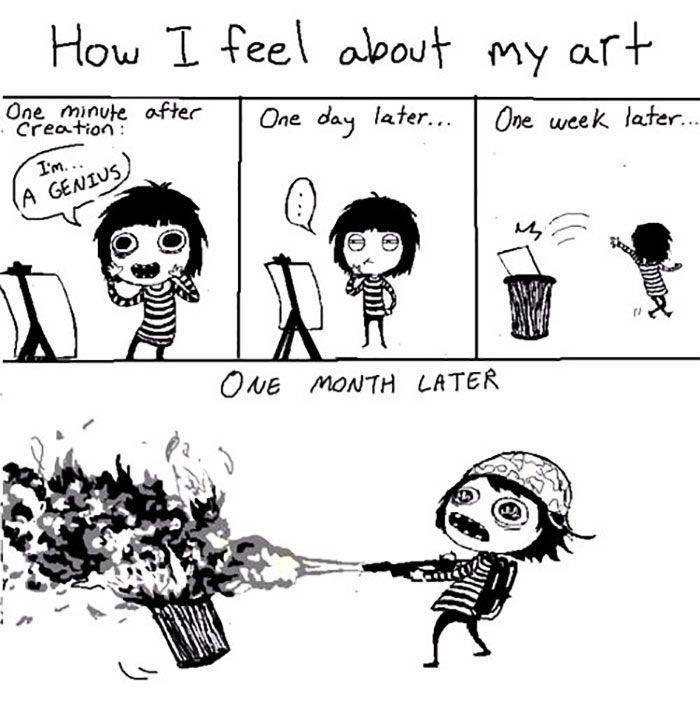 Life Of An Artist Sarah S Scribbles Sarah Andersen Artist Memes