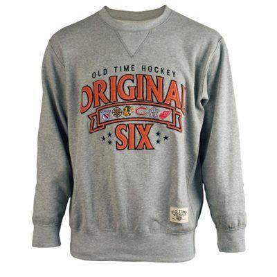 382183046 Mens Original 6 Gray Milo Pullover Sweatshirt Nhl Shop