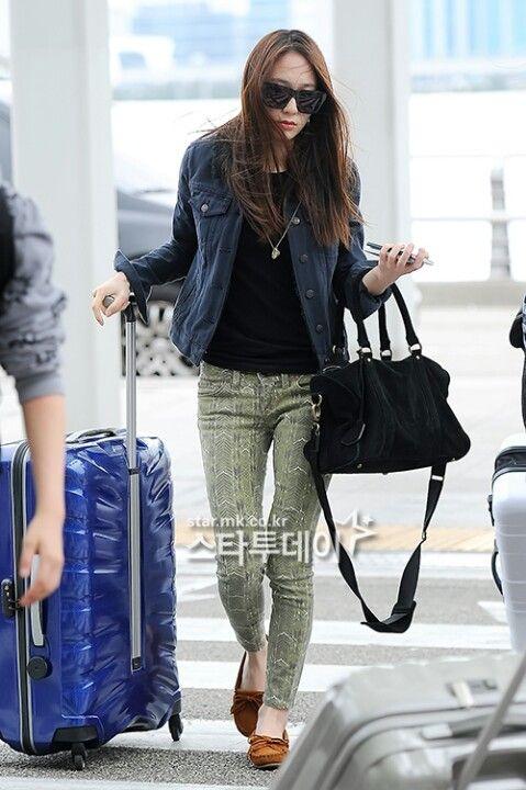 Krystal Jung Kpop Airport Fashion Fx Jung Sisters Pinterest Krystal Jung Airport